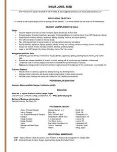 kitchen designer resume shelia jones interior design resume linked in