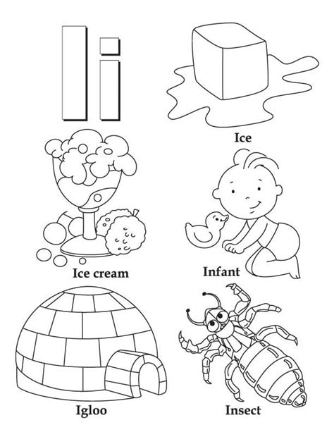 My A To Z Coloring Book Letter I Coloring Page My Babies I My Coloring Pages