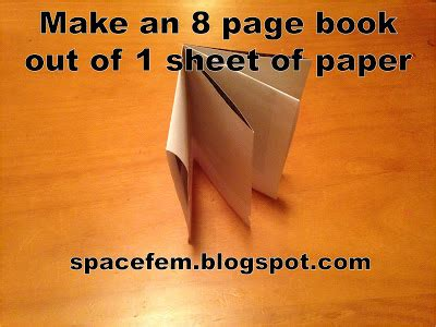 How To Make A Book Out Of Paper - spacefem make a blank paper book out of one sheet of paper