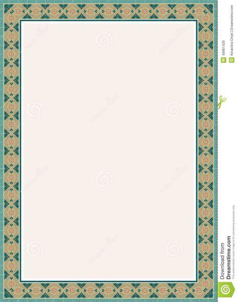 Poster 136 Arabica arabic koran border frame design stock illustration