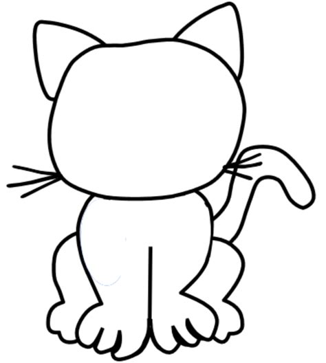 blank cat coloring page blank cat free images at clker com vector clip art