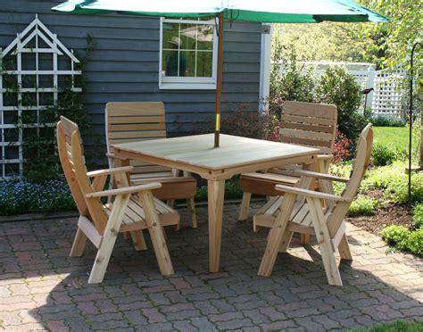 Cedar Patio Furniture Sets Cedar Royal Highback Patio Chair
