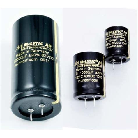 electrolytic capacitor mundorf mlytic ag glue on 47000 uf 25vdc 125c 2pin fidelity components shop