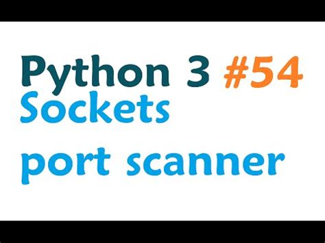 tutorial python socket python 3 programming tutorial sockets client server