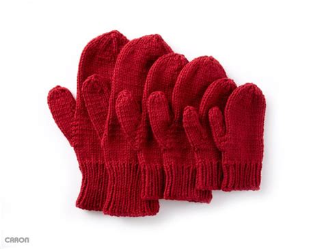 free pattern gloves knitting basic family mittens free pattern to knit pinterest