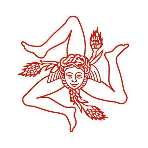 sicilian symbols tattoos la trinacria simbolo della sicilia tattoos tattoos
