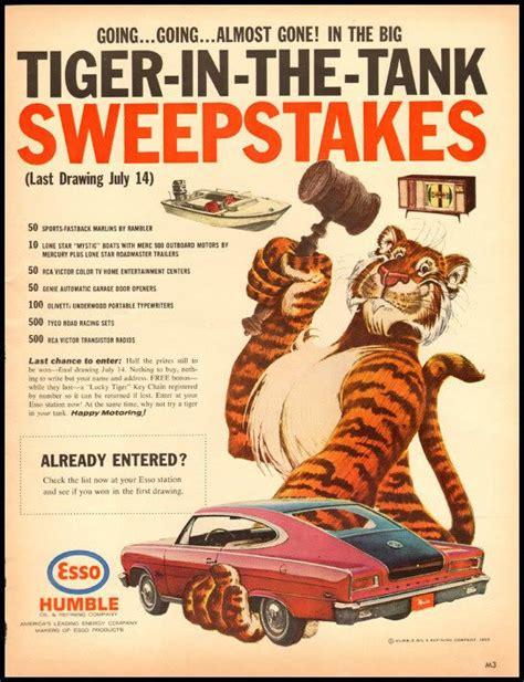 Sweepstakes Ad - going going almost gone in the big tiger in the tank sweepstakes print ads