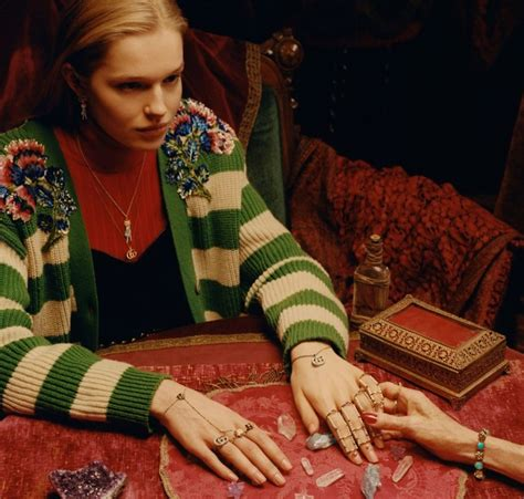tippi hendren gucci jewerly timepiece  campaign fashion  rogue