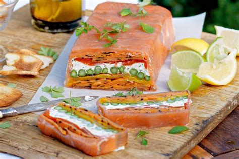smoked salmon terrine recipe chargrilled vegetable terrine with smoked salmon