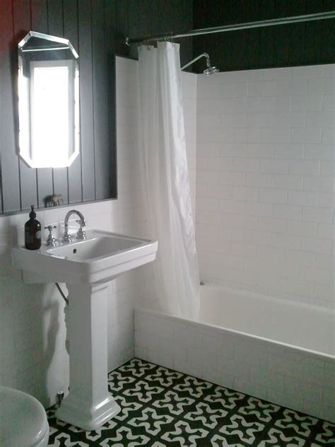 Blue Tile Bathroom Ideas Encaustic Tiles Old Pearly Jenkins