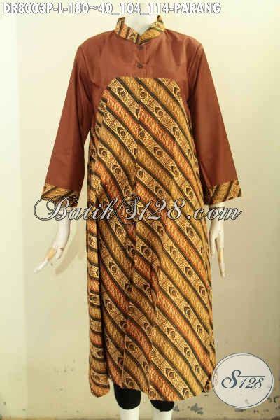 Baju Wanita Dress Panjang Bagus batik dress motif parang proses printing baju batik