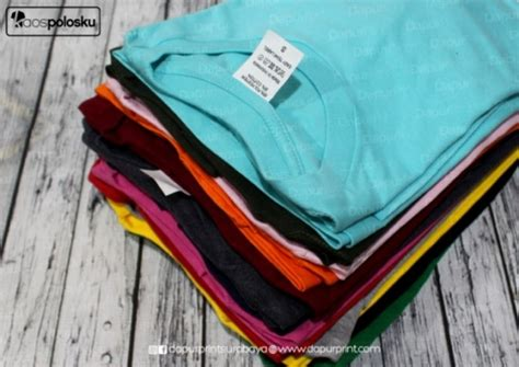 Produk Istimewa Kaos Polos Cotton Combed 30s Lokal Made In Indonesia cetak t shirt custom tanpa minimum order jakarta printer