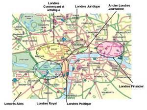 Carte Des Differents Quartiers De Londres