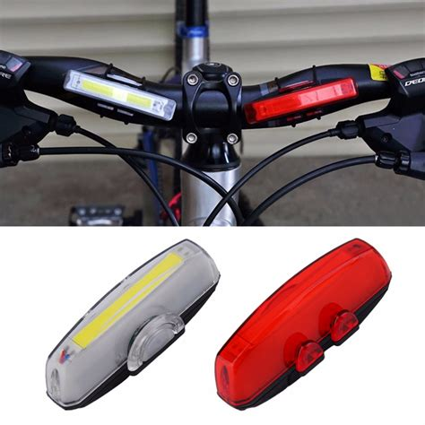 bike front and rear light set 1 set bicycle bike front rear tail led light mini