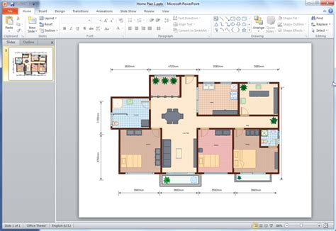how to create a floor plan in powerpoint create floor plan use wall shapes in floor plan create a