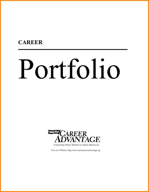 5 career portfolio cover page model resumed