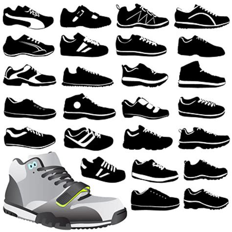 sport shoes vector 4 designer variety of sports shoes vector material