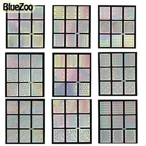 pattern grid world vinyl blue zoo 1sheet nail vinyls hollow irregular grid stencil