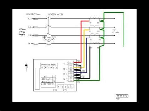 wiring diagram of earth leakage relay wiring picture