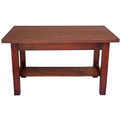 1910 arts and crafts oak library table at 1stdibs