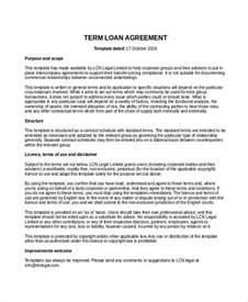 Loan Agreement Template Pdf by Loan Agreement Template 9 Free Word Pdf Document