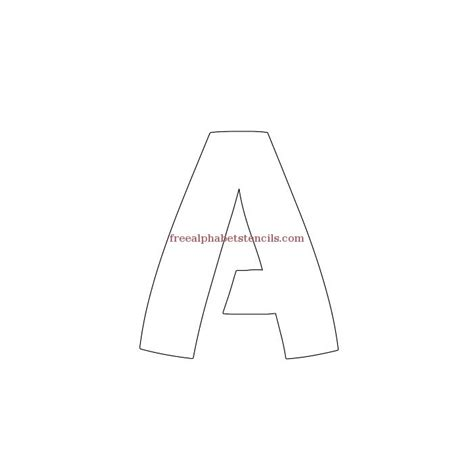 free printable bold letter stencils artistic bold alphabet stencils freealphabetstencils com