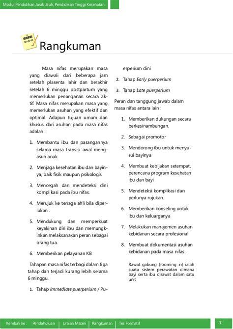 Asuhan Kebidanan Ibu Nifas Deteksi Dini Komplikasi Juraida Roito H konsep dasar asuhan kebidanan nifas