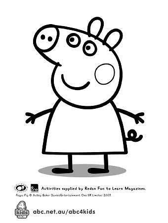 peppa pig template  birthday cake peppa pig coloring