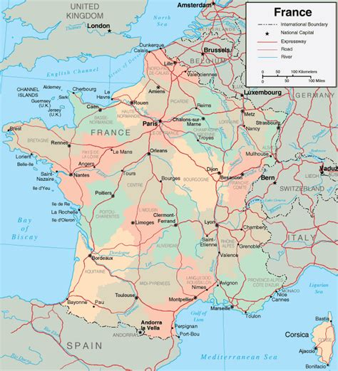 printable maps france map of france maps of the french republic