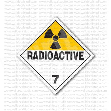 printable warning stickers from 4 00 buy radioactive 7 safety warning sign sticker