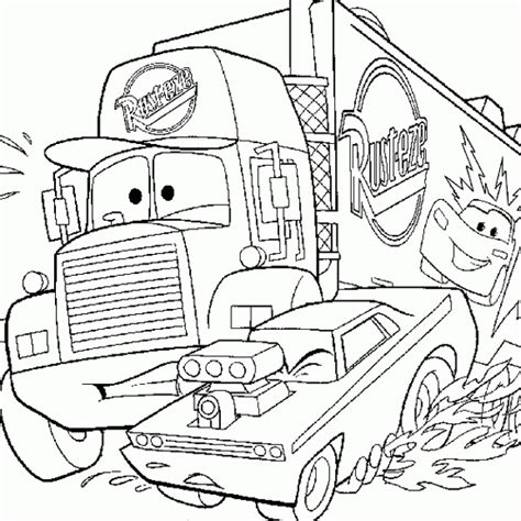 coloring pages of cars with flames cars coloring cars mcqueen truck coloring free