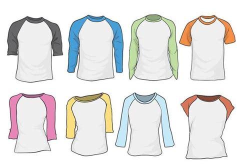 template t shirt raglan free raglan vector set free vector download 387975 cannypic