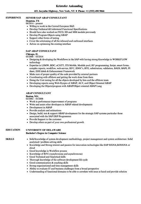 sap abap resume sle air conditioning installer cover letter