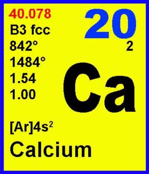 Calcium On Periodic Table by 20 Calcium Ca Elements4kids