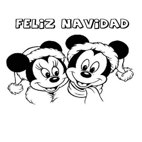 imagenes feliz navidad para colorear dibujo de feliz navidad mickey y minnie para imprimir y