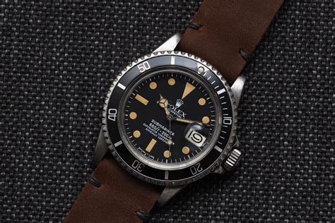 Rolex Submariner 1680 X Horween Strap   Luxury Watches Brands: Wholesale in Swiss, Germany