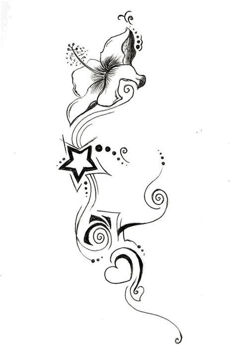 lily and stars tattoo designs and by glidderbug on deviantart
