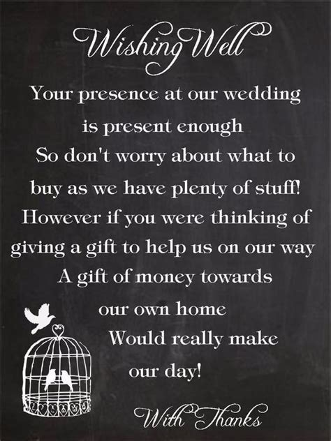 5 ways to ask for money instead of a gift   Plan a wedding