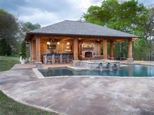 house plans with pools and outdoor kitchens rustic pool house in mississippi pool house ideas for