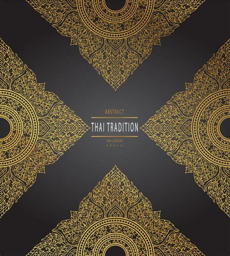 thai pattern background free thai tradition pattern background vintage vector vector