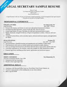 Secretary Resume Templates Resume Format Legal Resume Format Samples