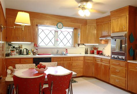 1950s kitchens frances and doug s warm and inviting restored 1950s wood