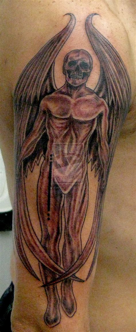tattoo angel skull skull angel tattoo by micaeltattoo on deviantart