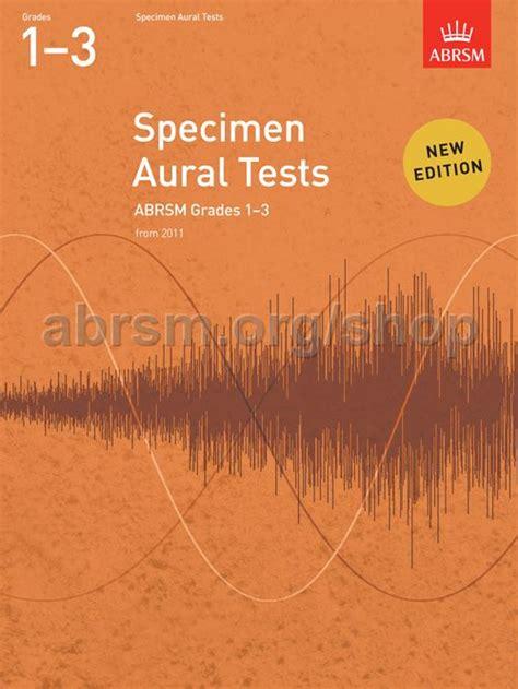 specimen aural tests grades  abrsm