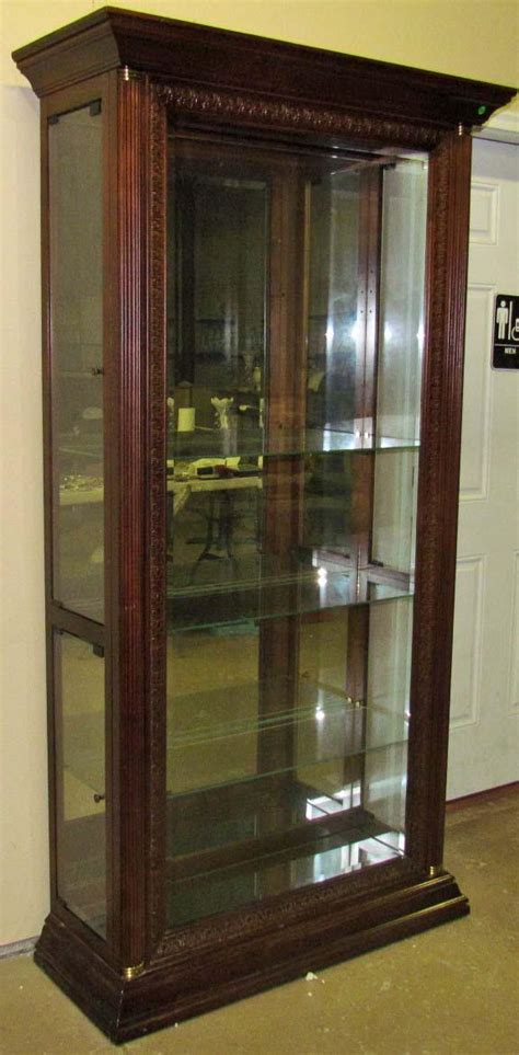wood and glass cabinet large wood and glass display cabinet w glass glas