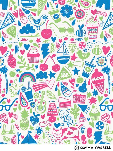 summer pattern tumblr summer gemma correll flickr