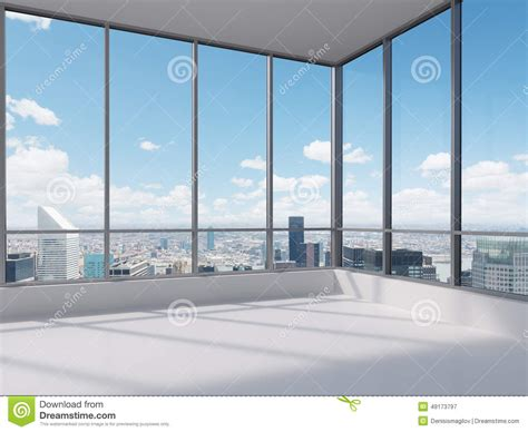 bureau ville la grand bureau avec la grande fen 234 tre illustration stock image