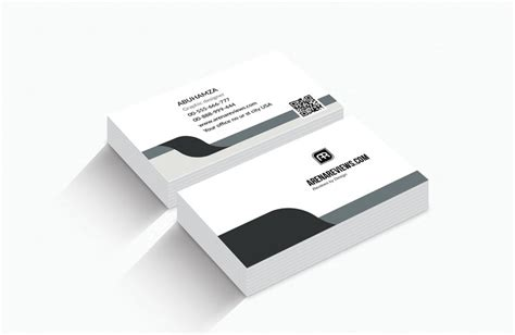 classic business card template free classic black and grey official business card template