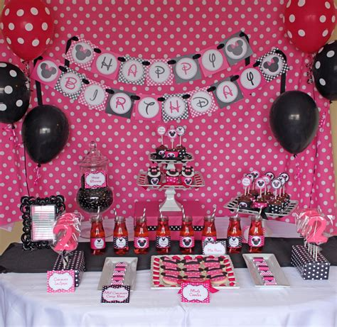 Minnie Mouse Birthday Decoration Ideas by Minnie Mouse Decorations Favors Ideas