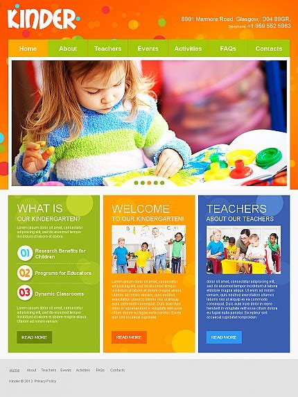nursery brochure templates free colorful day care nursery kindergarten website